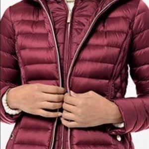 brown michael kors packable puffer jacket .